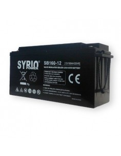 AGM Battery 160Ah 12V Syrio Power Off-Grid Solar System Electric Vehicles Marine