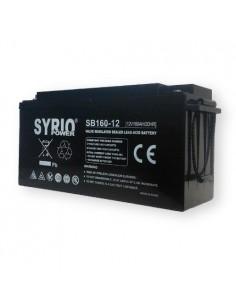 Batteria 160Ah 12V AGM Syrio Power Fotovoltaico Nautica Camper Veicoli Elettrici