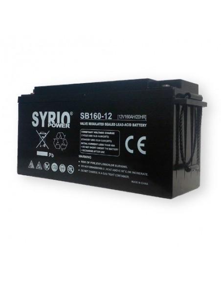 Batteria AGM 150Ah 12V Syrio Power Fotovoltaico Accumulatore Veicoli Elettrici