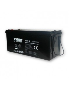 Batteria 200Ah 12V AGM Syrio Power Fotovoltaico nautica camper veicoli elettrici