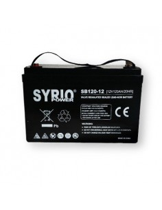 AGM Battery 120AH 12V Syrio Power Off-Grid Solar System Electric Vehicles Marine