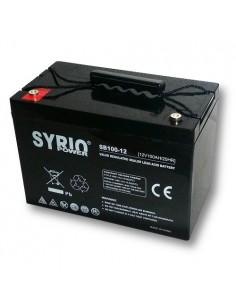 Batteria AGM 100Ah 12V Syrio Power Fotovoltaico nautica camper veicoli elettrici