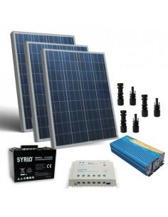 Kit Solaire Chalet Pro 300W 12V Regulateur 30A Onduleur 1000W Batterie 100Ah SB