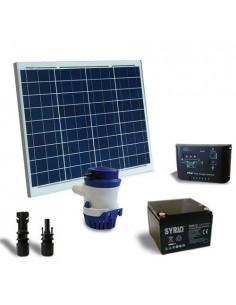 Kit Solare Irrigazione 42l/m 12V Pannello Regolatore Pompa Batteria AGM 26Ah SB
