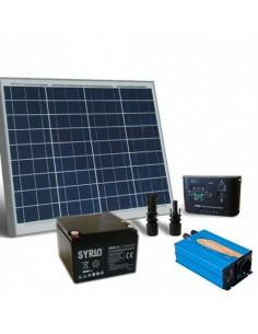 kit Solar Rifugio Base 50W Placa Solar Panel Inversor Regulador Batteria 26Ah SB