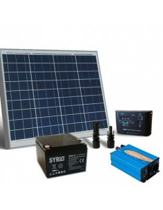 Kit Solare Baita 50W 12V Base Pannello Regolatore Inverter Batteria 26Ah SB