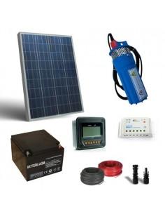 Kit Solare Irrigazione 80W 12V 190L/h prevalenza 18mt Pompaggio Batteria 26Ah SB