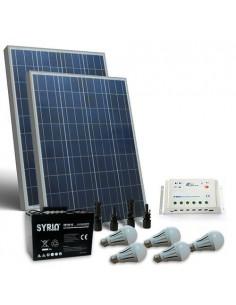 Kit Solare Illuminazione LED 160W 12V Interni Fotovoltaico Batteria 100Ah SB
