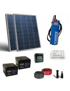 Solar Kit fur Wasserpumpen 160W 24V 380L/h mit Haufigkeit 18mt Batterie 26Ah SB