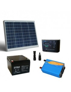 50W 12V Solar Kit Chalet Pro Inverter Charger Controller Battery 26Ah SB