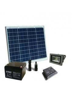 Kit Solare Illuminazione 60W 12V per Esterni con Faro LED 20W Batteria 26Ah SB