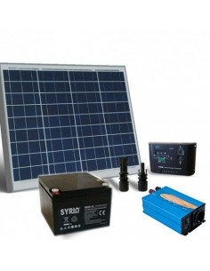 Photovoltaik kit 60W Base Hütte Solarmodul Wechselrichter Batterie 26Ah SB
