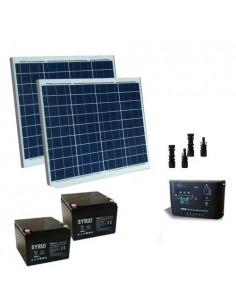 Kit Solare Cancelli Elettrici 120W 24V Pannelli Regolatore 10A Batterie 26Ah SB