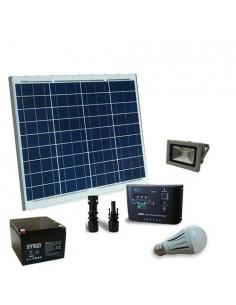 Solarleuchte Kit LED 60W 12V fur Innere und extern Photovoltaik Batterie 26Ah SB