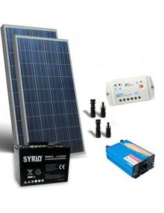 Kit Solare Baita 200W 12V Base Regolatore Inverter 1000W Batteria AGM 100Ah SB