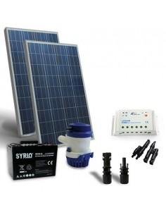 Solar-Kit Bewasserung 94 L/m 12V Solarpanel Laderegler Pumpe Batterie 100Ah SB