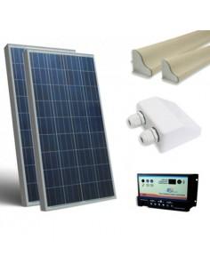 Kit Solare Camper 160W SR 12V Base PolIicristallino Fotovoltaico Caravan Baita