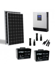 600W 24V Solar Chalet Pro Panel Inverter 3000W battery 100Ah TR SB