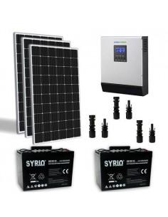 Kit Solaire Chalet 900W TR 24V Pro Panneau Onduleur 3000W batterie 100Ah  SB