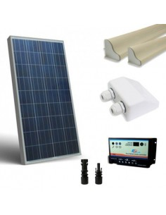 Solar Camper Kit 80W SR 12V Base Panel Photovoltaic Controller 10Ah Cable Gland