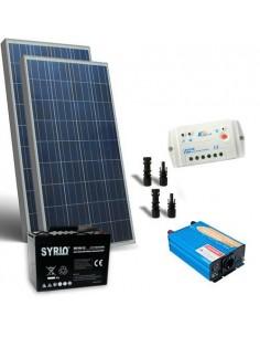 Kit Solare Baita 160W 12V Base Pannello Regolatore Inverter Batteria 100Ah SB
