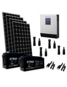 Kit solare baita 1200W 24V Pro pannello europeo inverter 3000W batteria 160Ah SB