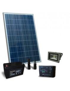Kit Solare Illuminazione 80W SR 12V per Esterni con 1x Faro LED 20W Fotovoltaico