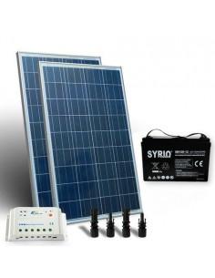 Kit Solare Pro 300W 12V Pannello Solare Regolatore 20A-PWM 1xBatteria 140Ah