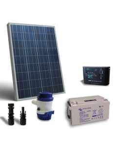 Solar Kit Irrigation 63l/m 12V SR Solar Panel Controller Solar Pump Battery 38Ah