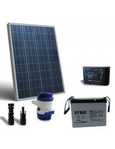 Kit Solare Irrigazione 63 l/m 12V SR Pannello Regolatore Pompa Batteria 60Ah