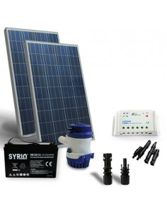 Kit Solare Irrigazione 94 L/m 12V SR Pannello Regolatore Pompa Batteria 120Ah SB