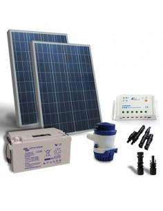Kit Solare Irrigazione 94 l/m 12V SR Pannello Regolatore Pompa Batteria 90Ah