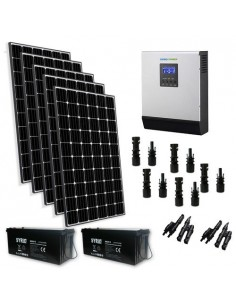 Kit Solare Baita 1500W 24V TR Pro Pannello Inverter 3000W Batteria AGM 200Ah SB