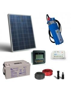 Kit Solaire Photovoltaique Pompage eau 80W 12V SR190 L/h 18mt Batterie 38Ah