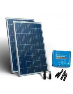 Kit Solare Base2 160W 12/24V SR Pannello Fotovoltaico Regolatore carica 15A MPPT