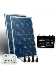 Solar Kit pro 160W 12V Solar Panel Charge Regulator 10A-PWM 1xBattery 80Ah