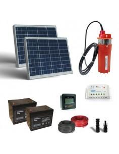 Kit Solaire Pompage 50W 24V 440L/h Prevalence 10mt Batterie AGM 18Ah SB