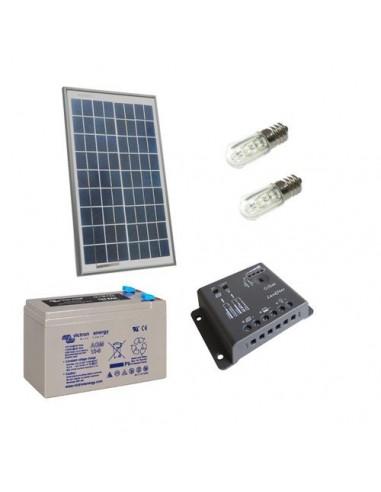 Kit Solare Votivo 10W Pannello Fotovoltaico, Batteria, Regolatore di carica, LED