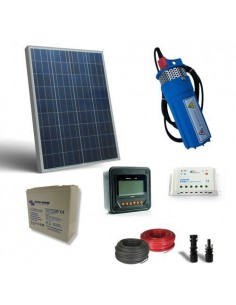 Kit Solar Photovoltaic Water Pumping for 80W 12V 190 L/h with prevalence 18mt