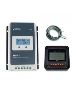 Set Solarladereglern MPPT 10A 12/24V 100Voc EP Solar Tracer-AN LCD + Fernanzeige