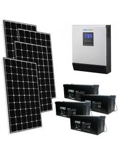Kit Casa Solare Pro 2.4kW 48V Impianto Europeo Mono Accumulo Off-Grid Isola