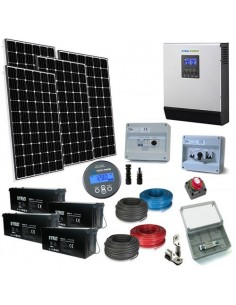 Kit Casa Solare Plus 2.4kW 48V Impianto Europeo Mono Accumulo Off-Grid Isola