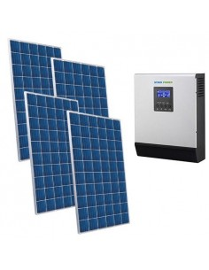 Kit Casa Solare 3kW 48V Base Impianto fotovoltaico off-grid accumulo inverter