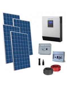 Solar Kit Base 1.2Kw 24V for House Photovoltaic System Off-Grid Accumulation