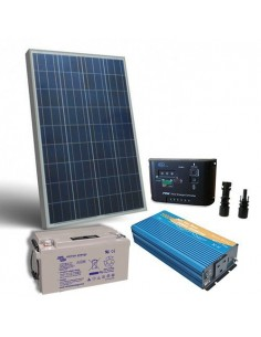 Solar-Kit Hütte Pro 150W 12V Solarmodul Laderegler Wechselrichter