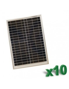 Set 10 x 20W 12V SR Polycrystalline Photovoltaic Solar Panels Set tot. 200W