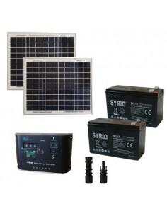 Kit Solaire Portail Electrique 20W 24V SR Panneau Contrôleur PWM Batterie 7Ah