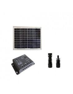 Kit Solare Base 10W 12V SR Pannello Fotovoltaico Regolatore 5A PWM