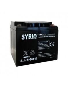 Batteria 40Ah 12V AGM Syrio Power Fotovoltaico nautica camper veicoli elettrici