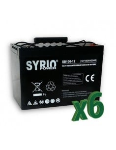 Batteria AGM 100Ah 12V Syrio Power Fotovoltaico Accumulatore Veicoli Elettrici